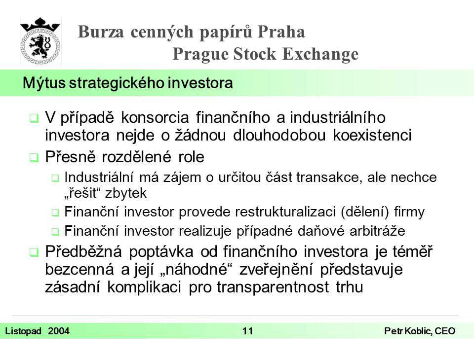 Mýtus strategického investora