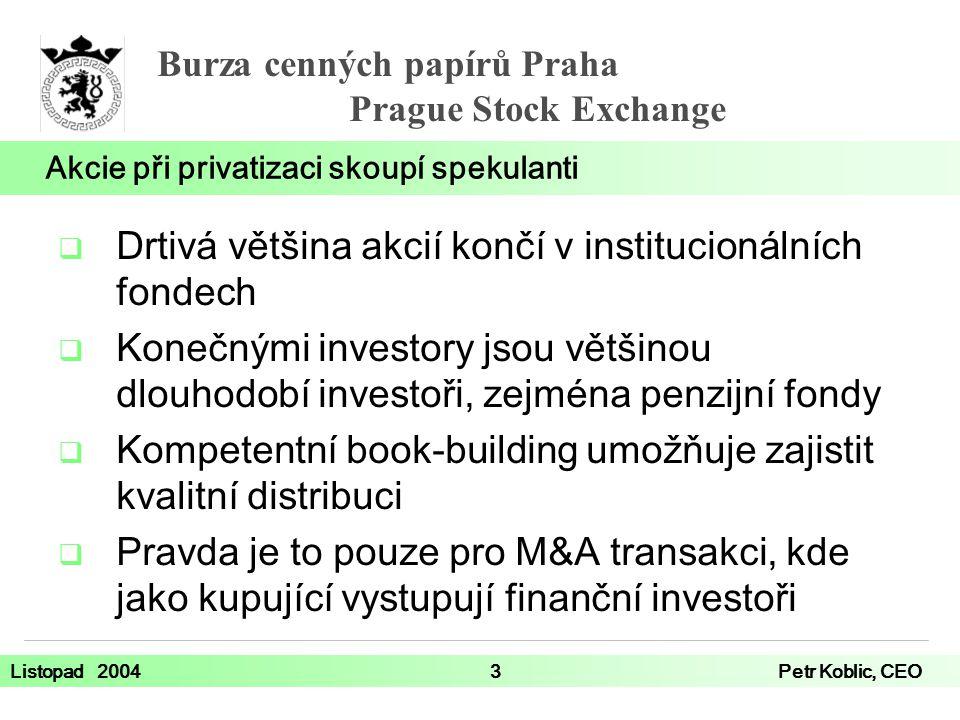 Akcie při privatizaci skoupí spekulanti