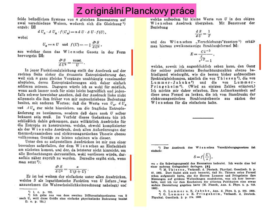 Z originální Planckovy práce