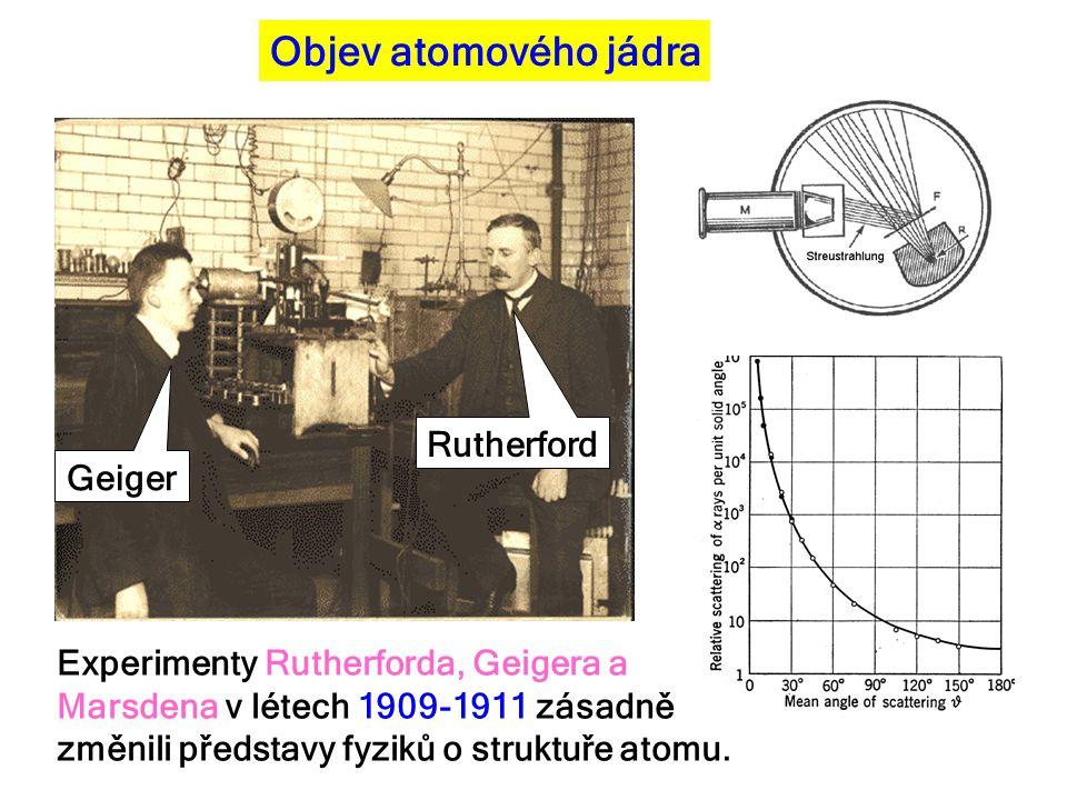 Objev atomového jádra Rutherford Geiger