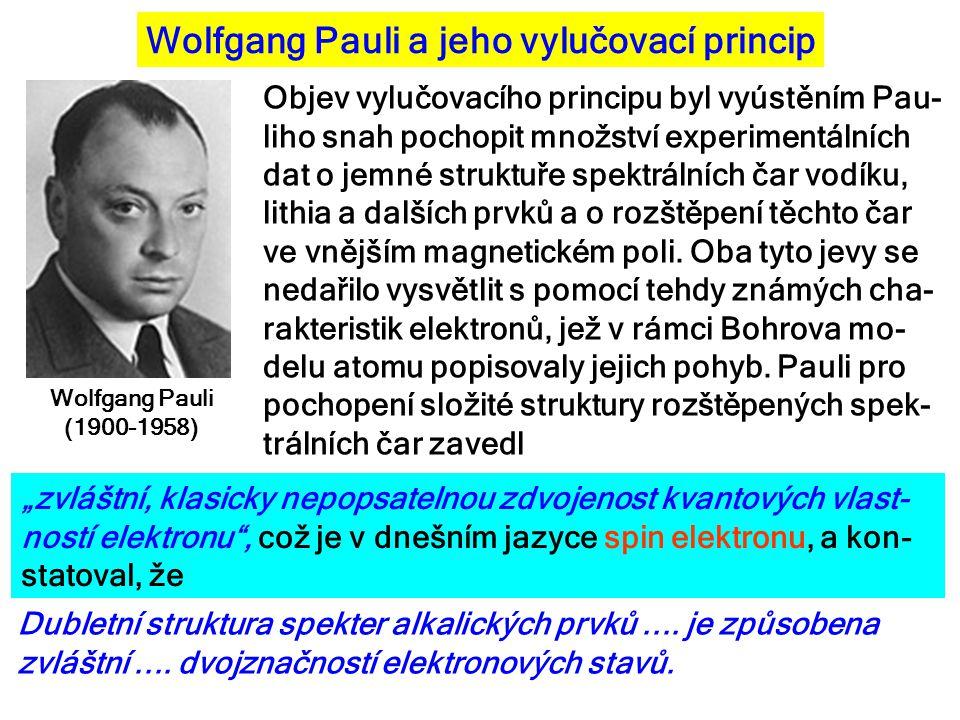 Wolfgang Pauli a jeho vylučovací princip