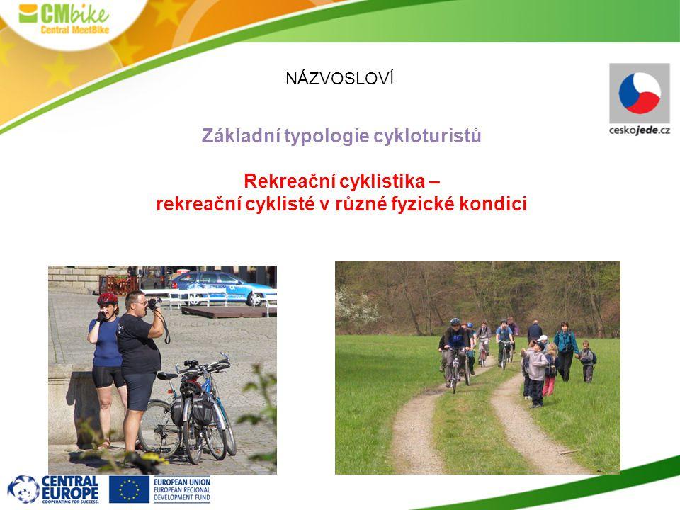 Základní typologie cykloturistů Rekreační cyklistika –