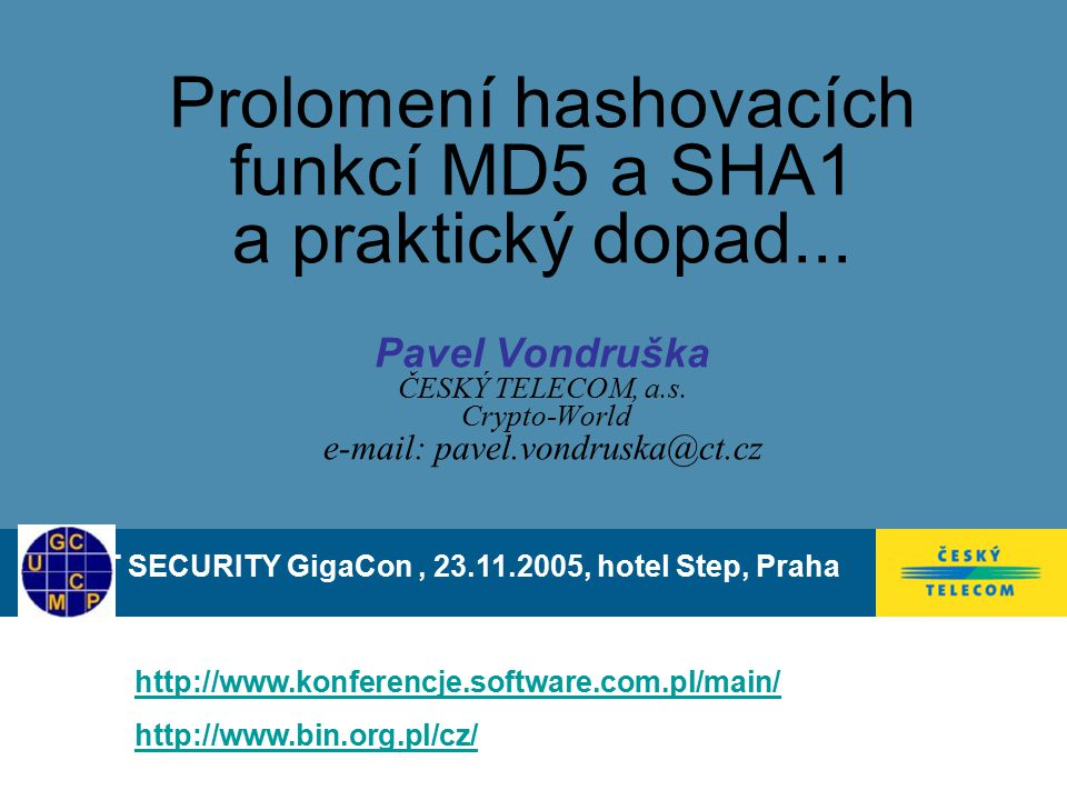 IT SECURITY GigaCon , , hotel Step, Praha