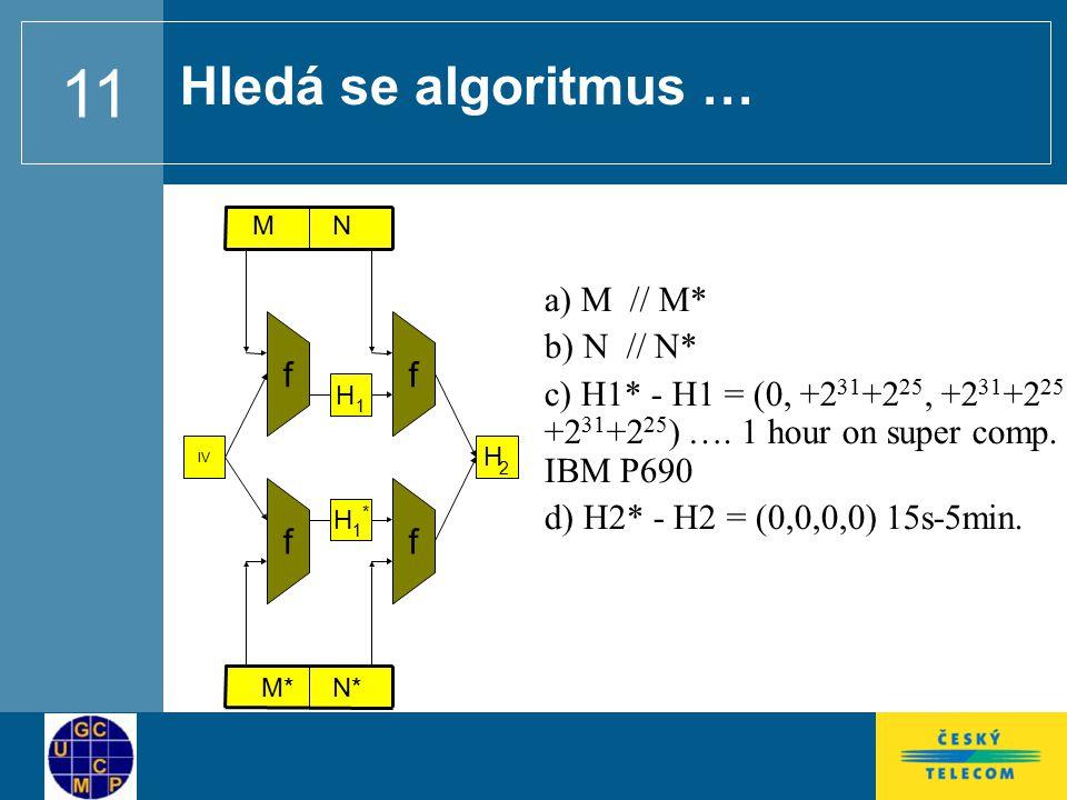 Hledá se algoritmus … a) M // M* b) N // N*
