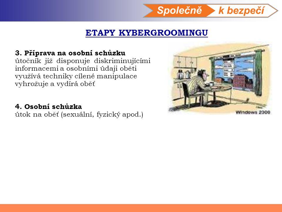 ETAPY KYBERGROOMINGU 3. Příprava na osobní schůzku