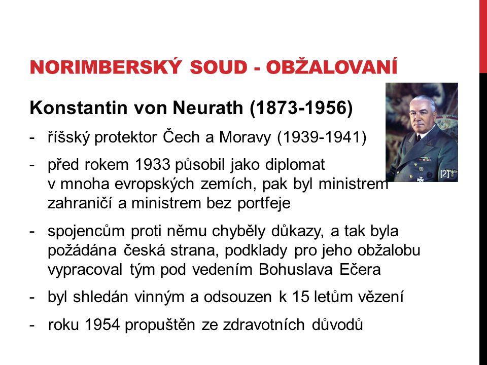 Norimberský soud - obžalovaní