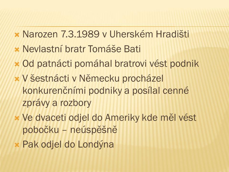 Narozen 7.3.1989 v Uherském Hradišti