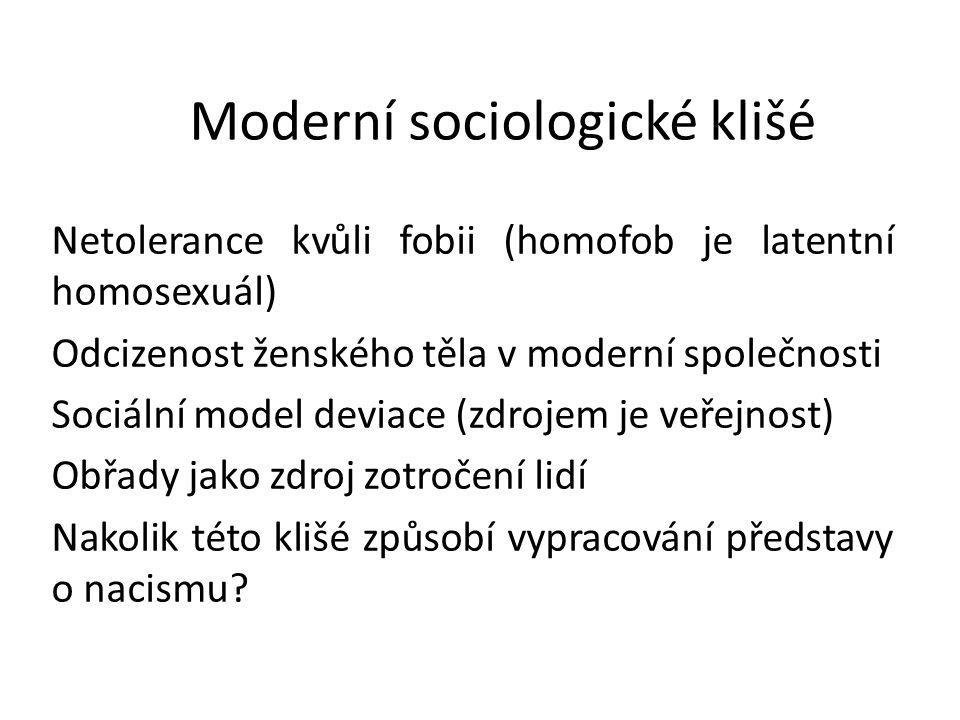 Moderní sociologické klišé