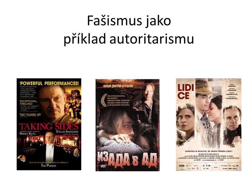 Fašismus jako příklad autoritarismu