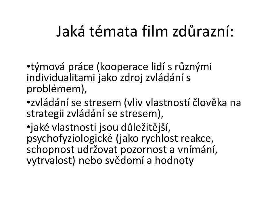 Jaká témata film zdůrazní: