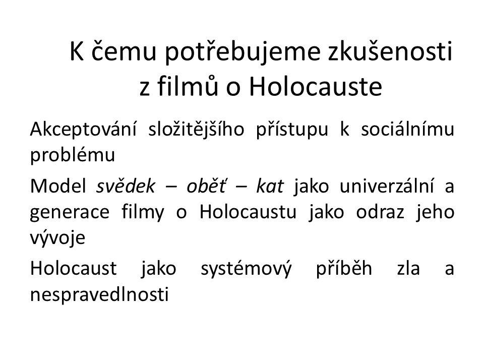K čemu potřebujeme zkušenosti z filmů o Holocauste