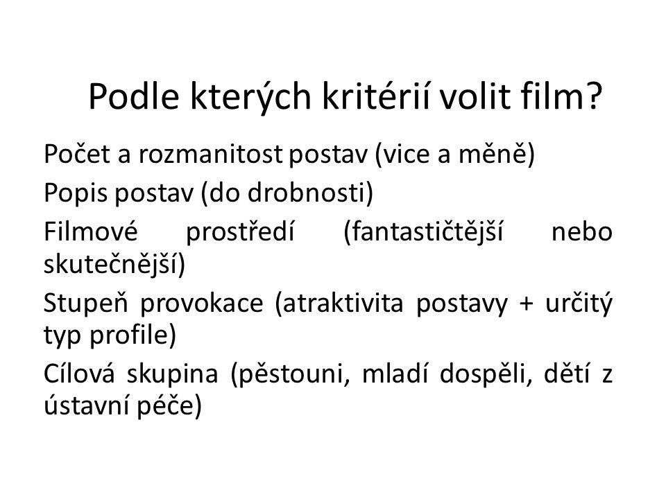 Podle kterých kritérií volit film
