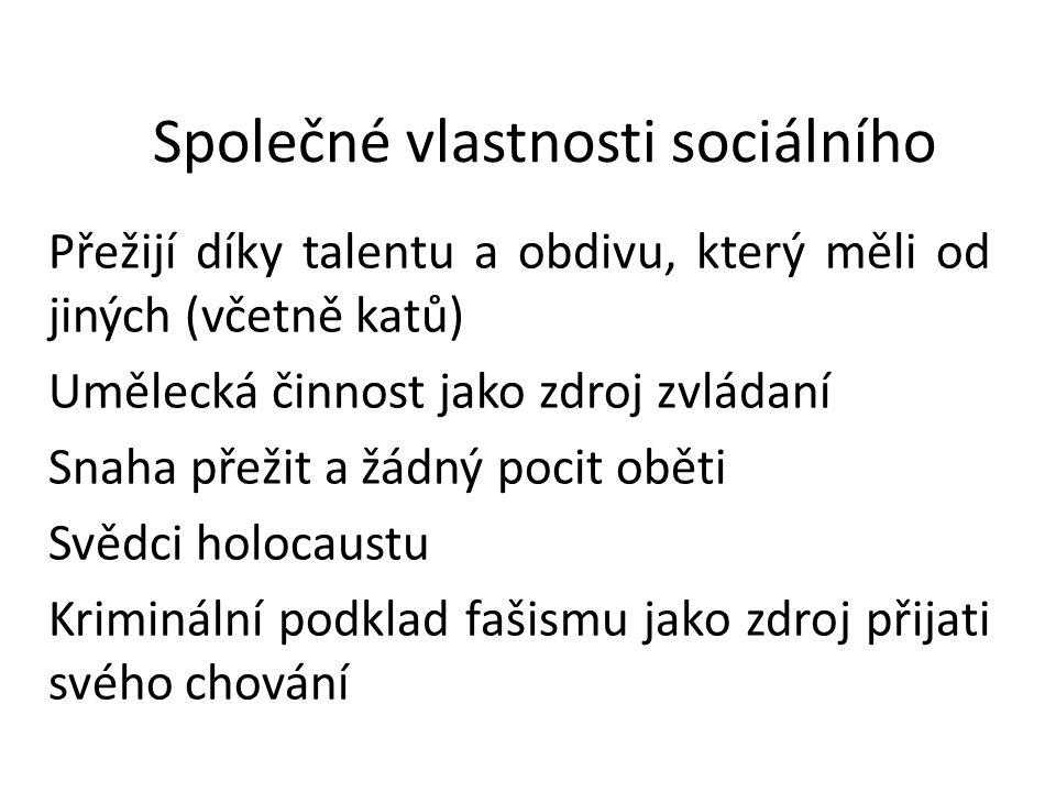 Společné vlastnosti sociálního