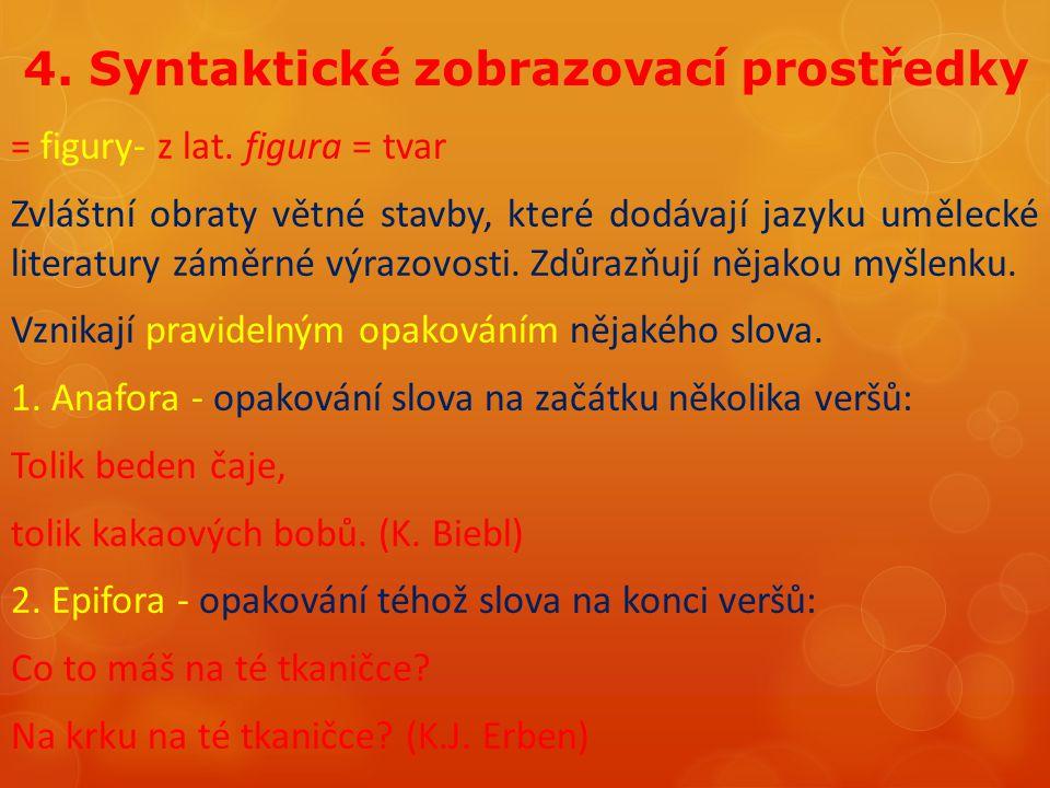 4. Syntaktické zobrazovací prostředky