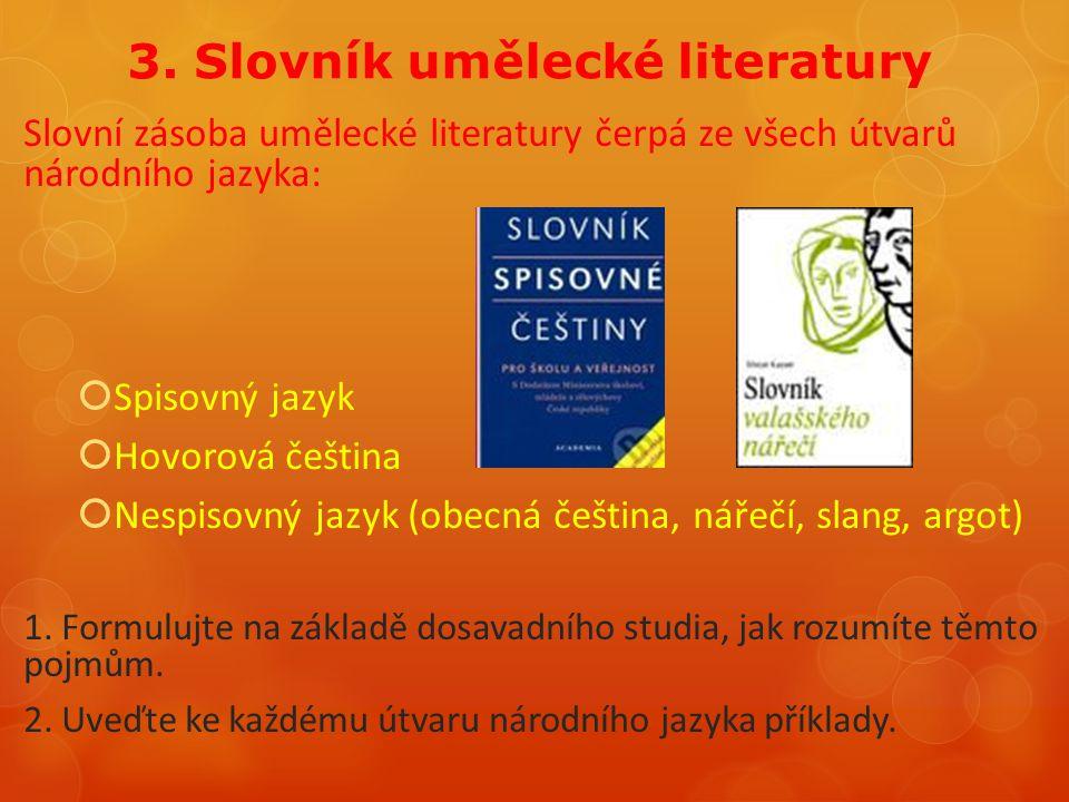 3. Slovník umělecké literatury