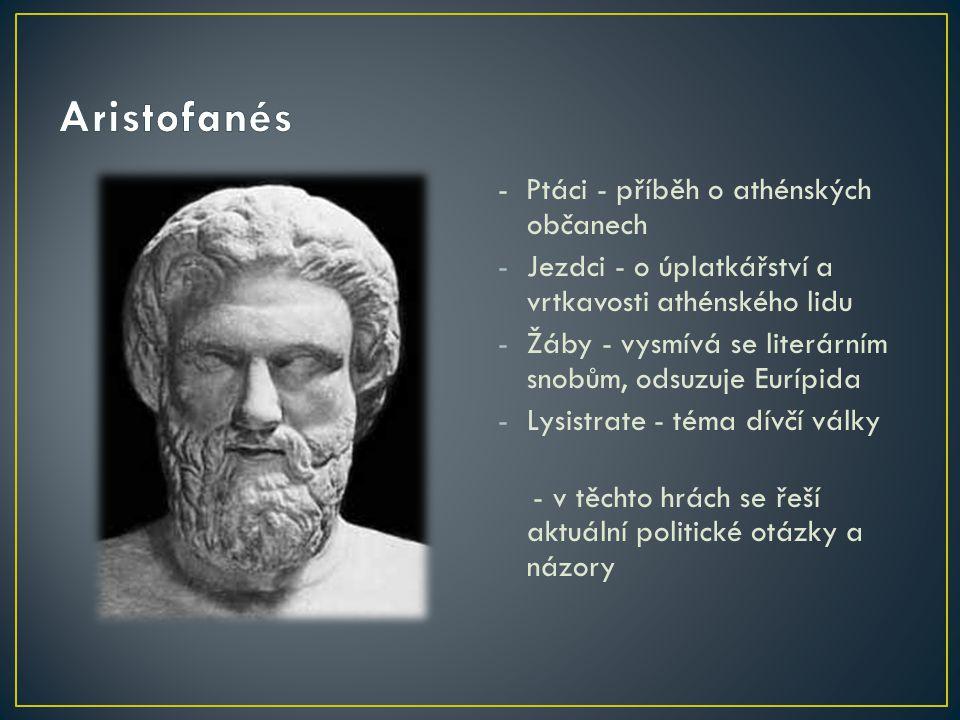 Aristofanés - Ptáci - příběh o athénských občanech