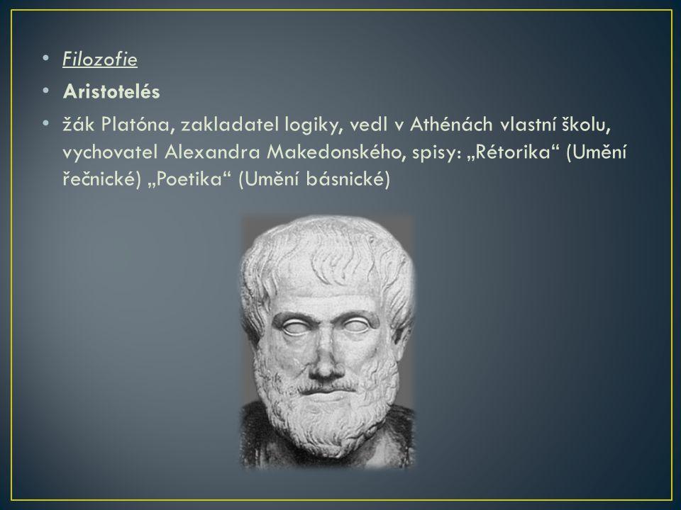 Filozofie Aristotelés.