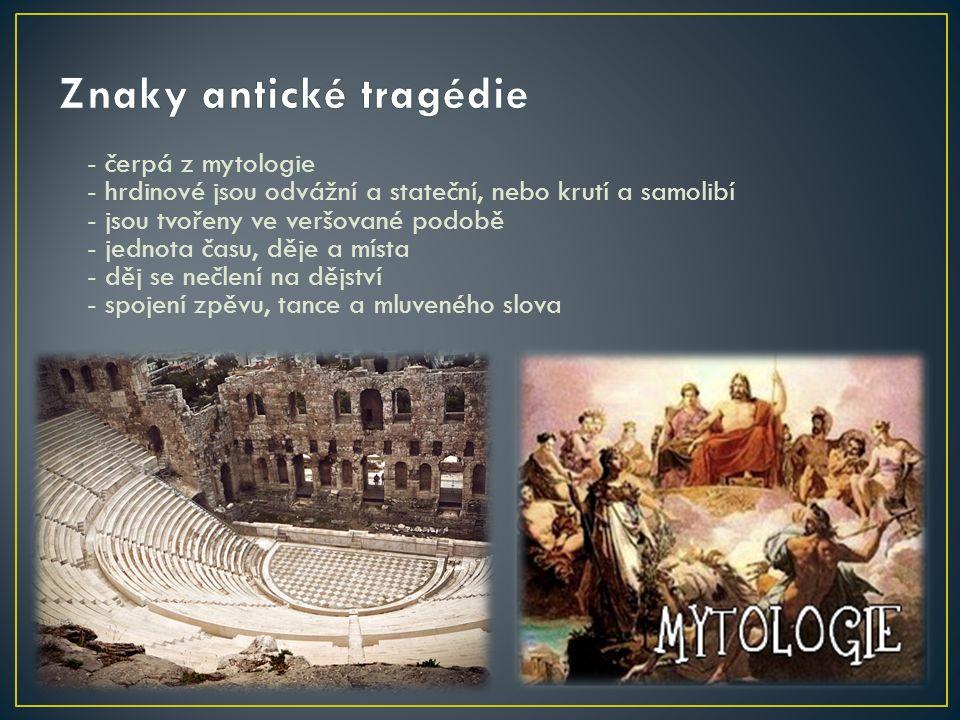 Znaky antické tragédie
