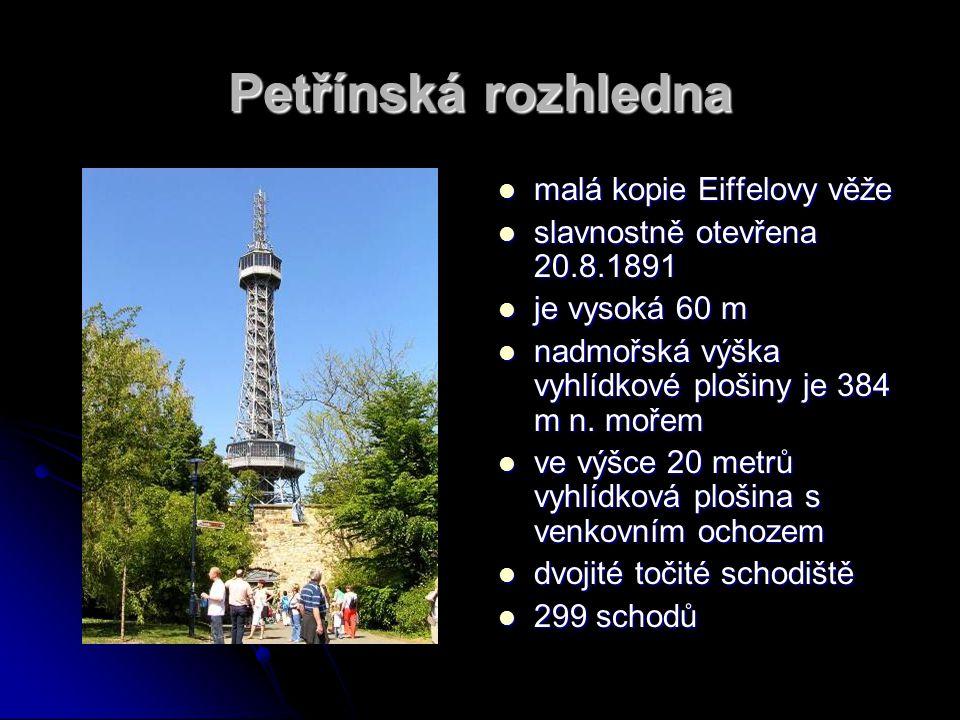 Petřínská rozhledna malá kopie Eiffelovy věže