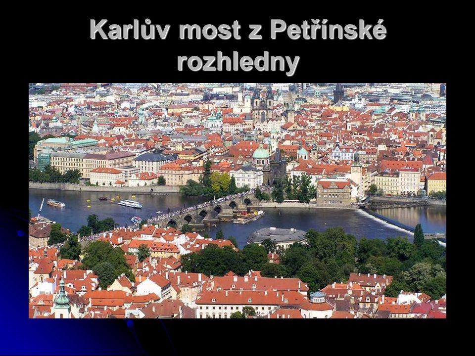 Karlův most z Petřínské rozhledny