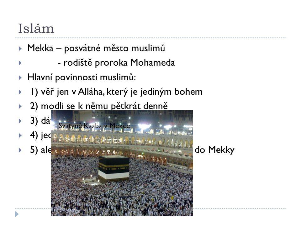 Islám Mekka – posvátné město muslimů - rodiště proroka Mohameda
