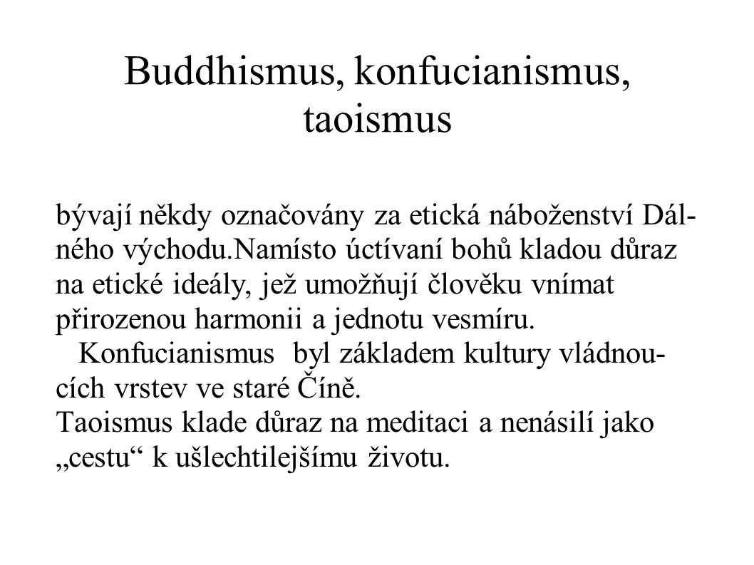Buddhismus, konfucianismus, taoismus