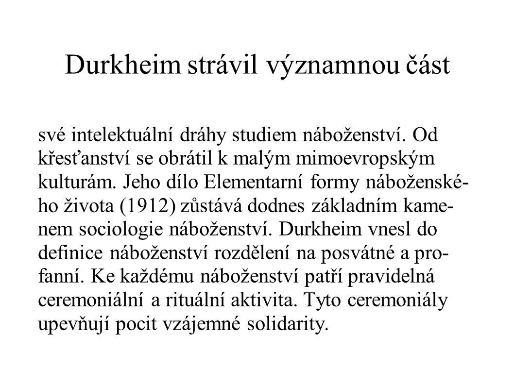 Durkheim strávil významnou část