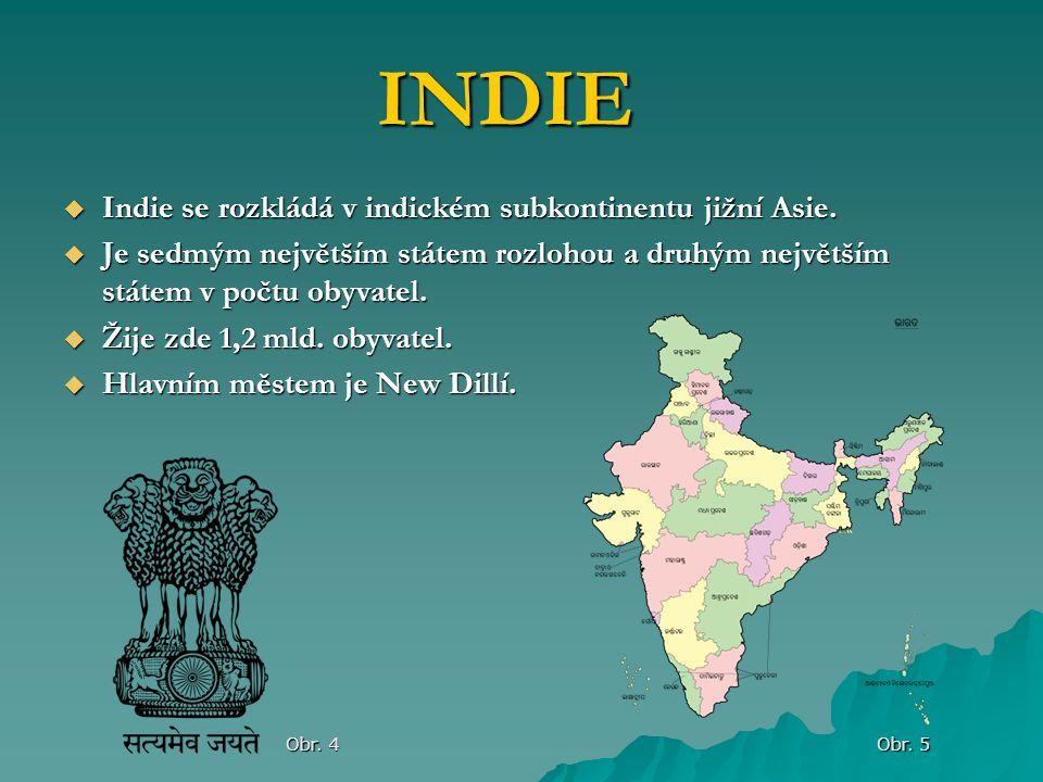 INDIE Indie se rozkládá v indickém subkontinentu jižní Asie.