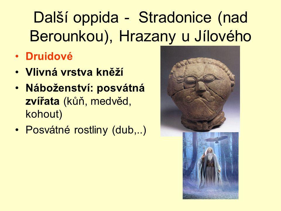 Další oppida - Stradonice (nad Berounkou), Hrazany u Jílového