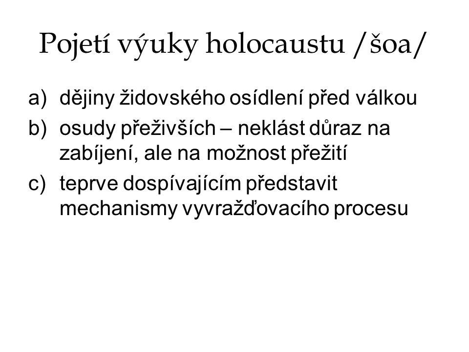 Pojetí výuky holocaustu /šoa/