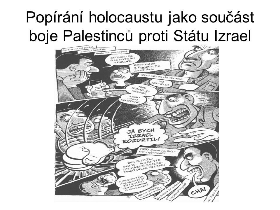 Popírání holocaustu jako součást boje Palestinců proti Státu Izrael