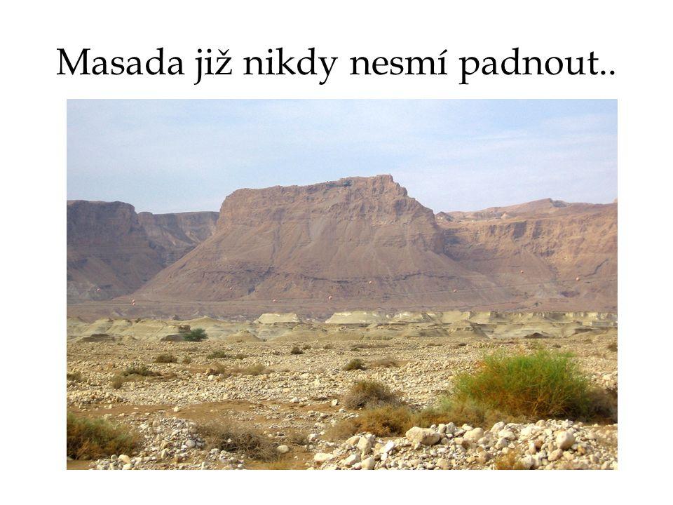 Masada již nikdy nesmí padnout..