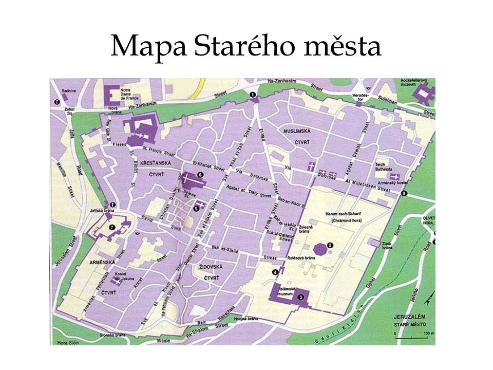 Mapa Starého města