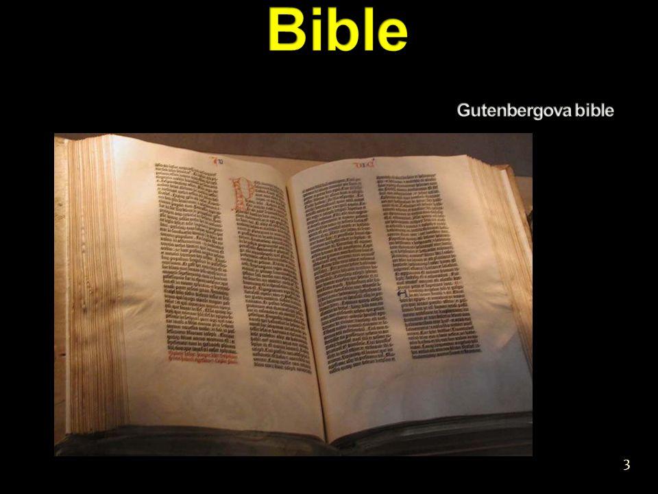 Bible Gutenbergova bible