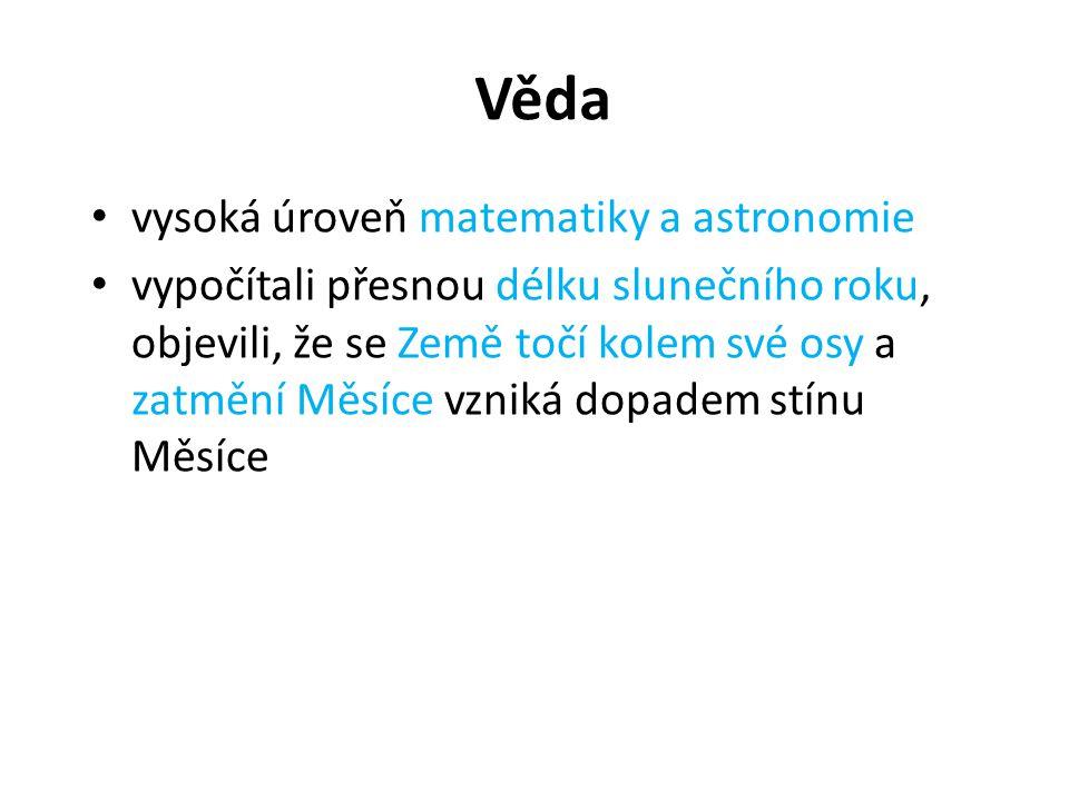 Věda vysoká úroveň matematiky a astronomie