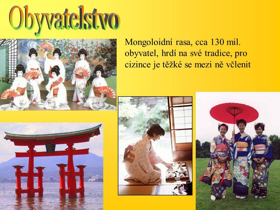 Obyvatelstvo Mongoloidní rasa, cca 130 mil.