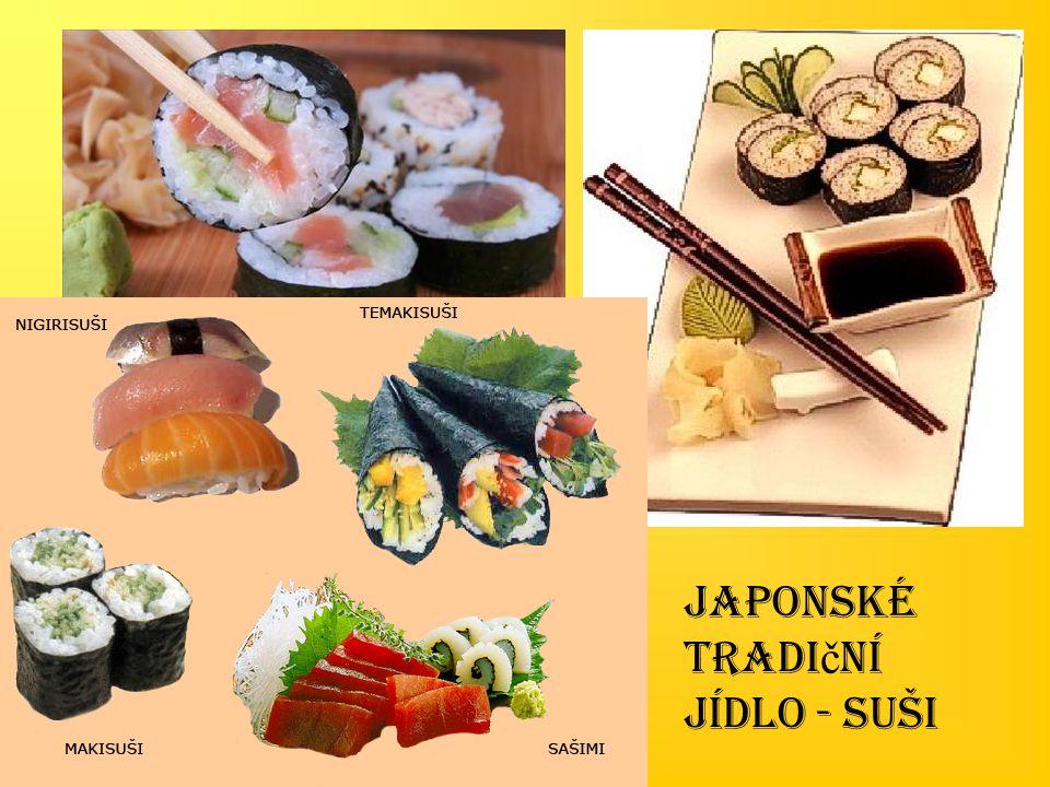 Japonské tradiční jídlo - suši