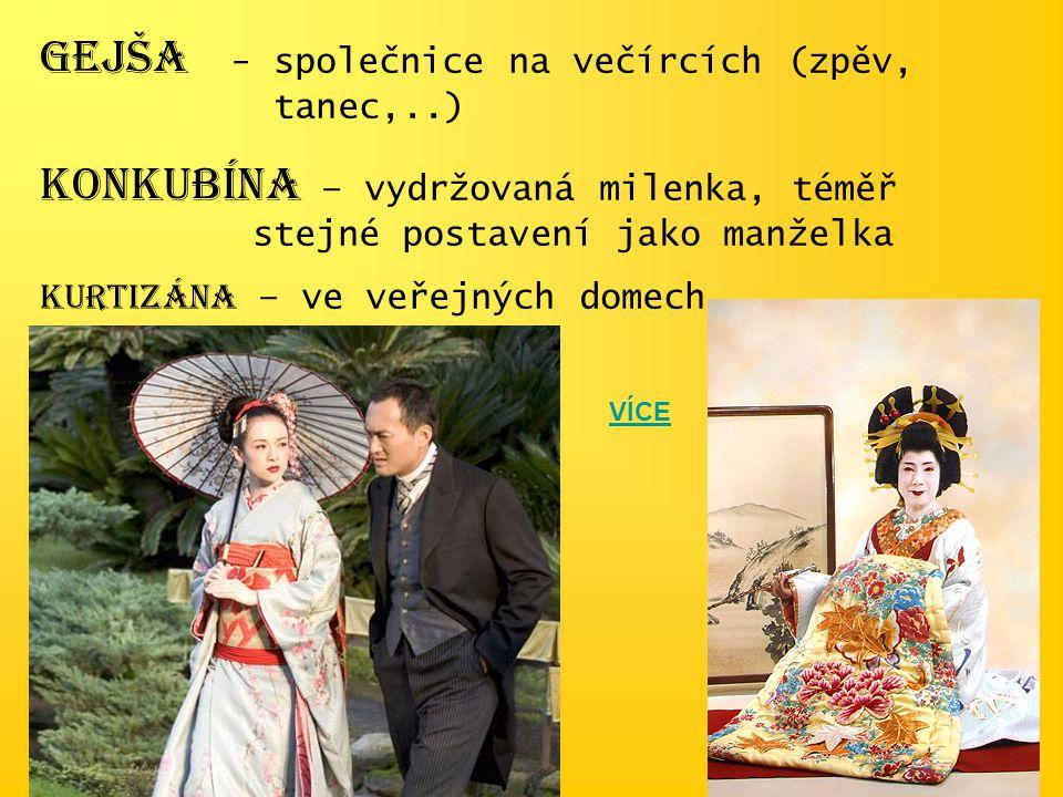 GEJŠA - společnice na večírcích (zpěv, tanec,..)