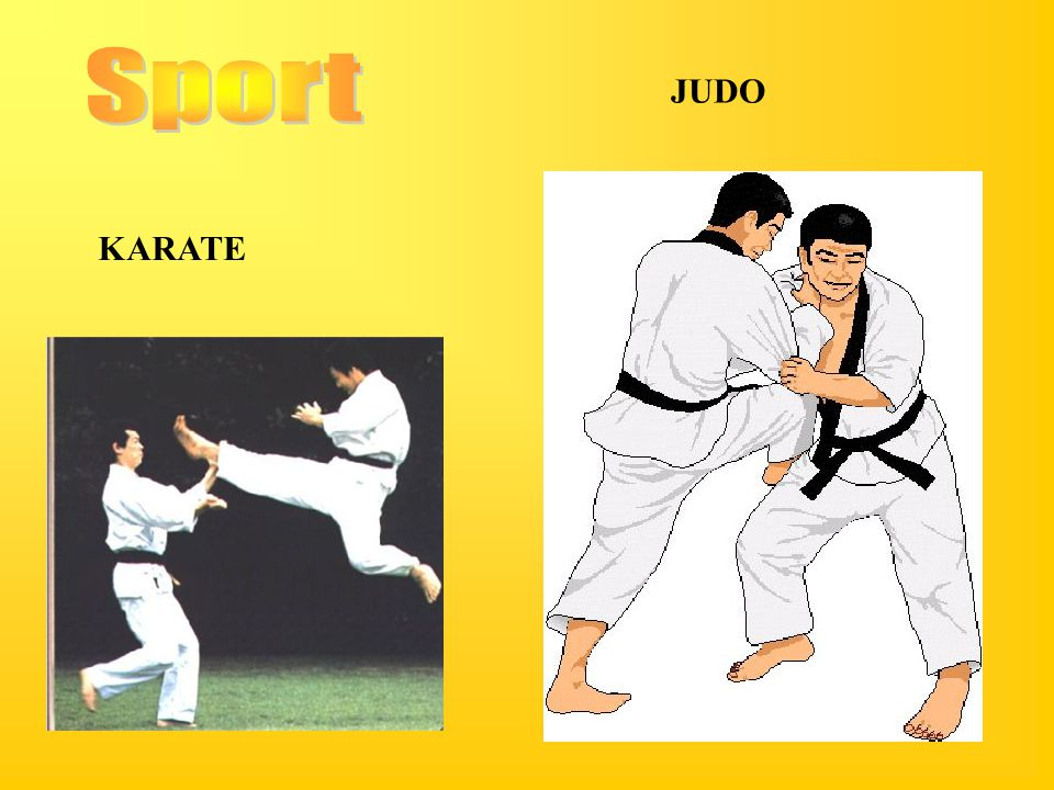Sport JUDO KARATE