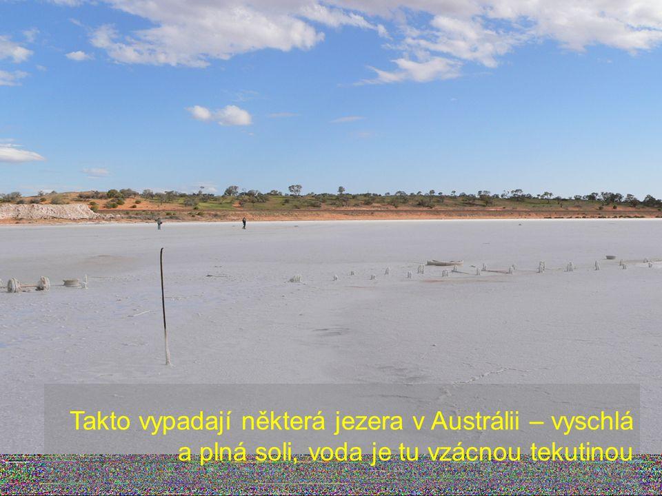 Takto vypadají některá jezera v Austrálii – vyschlá a plná soli, voda je tu vzácnou tekutinou