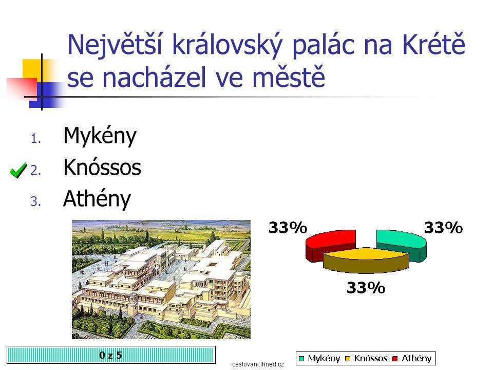 Největší královský palác na Krétě se nacházel ve městě