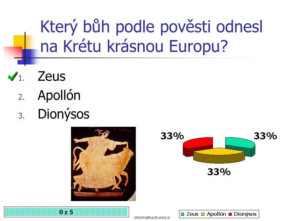 Který bůh podle pověsti odnesl na Krétu krásnou Europu
