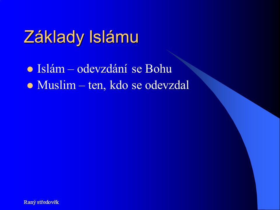 Základy Islámu Islám – odevzdání se Bohu Muslim – ten, kdo se odevzdal