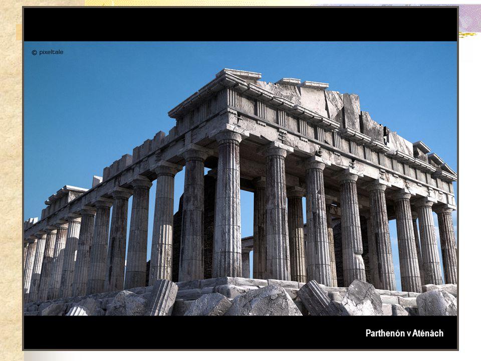 Dórský řád… Parthenón v Aténách