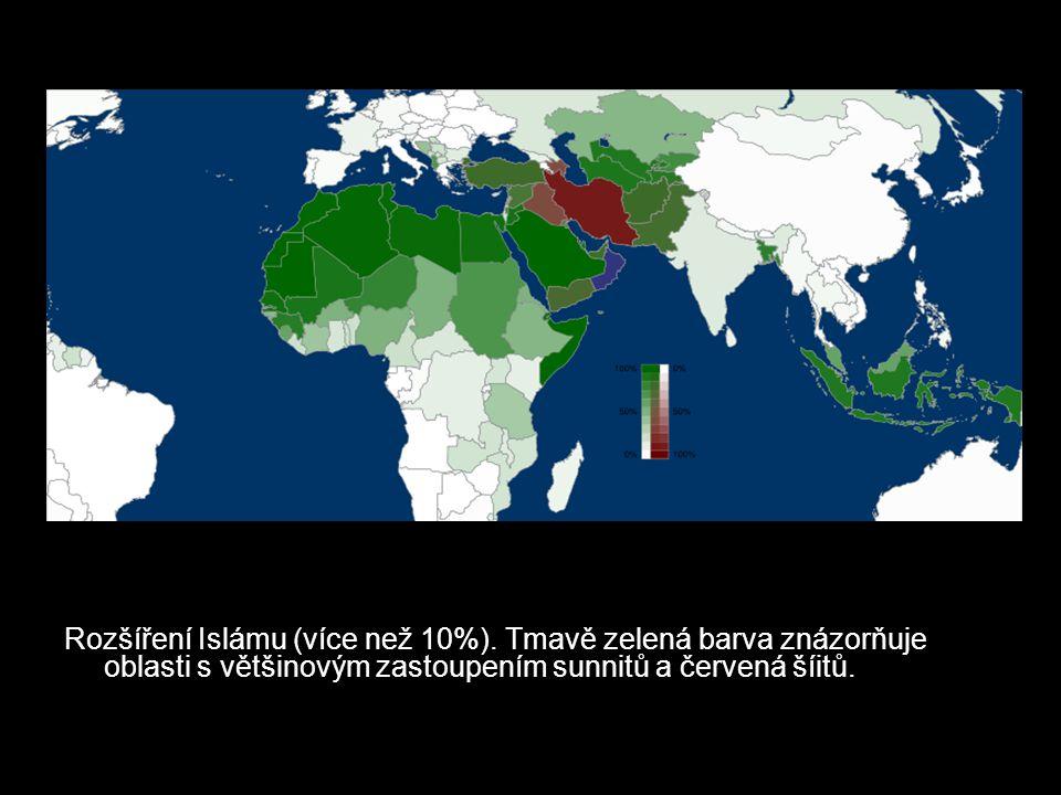 Rozšíření Islámu (více než 10%)