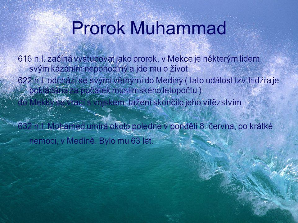 Prorok Muhammad 616 n.l. začíná vystupovat jako prorok, v Mekce je některým lidem svým kázáním nepohodlný a jde mu o život.