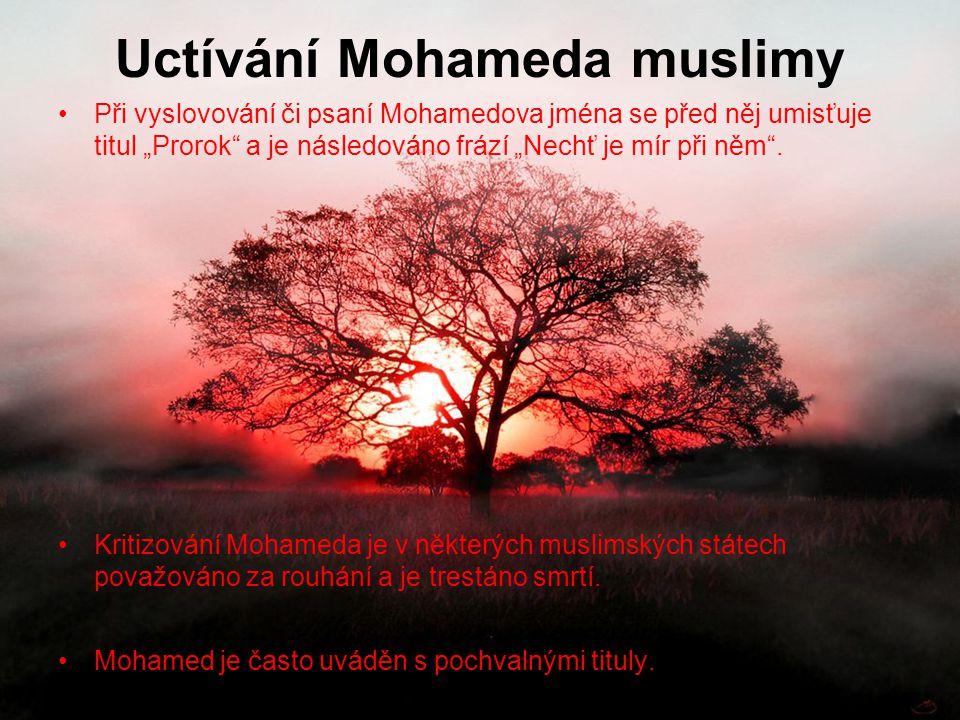 Uctívání Mohameda muslimy