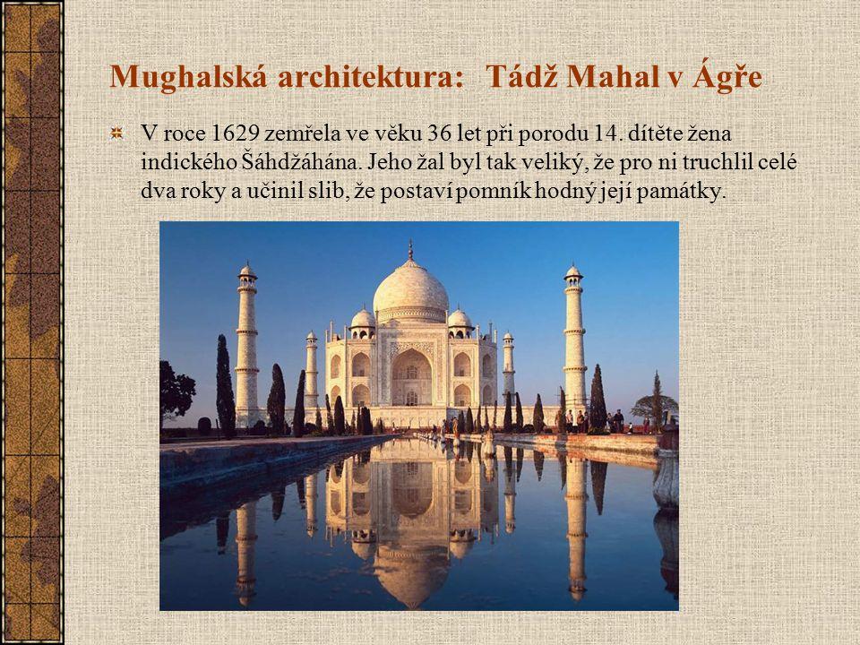 Mughalská architektura: Tádž Mahal v Ágře