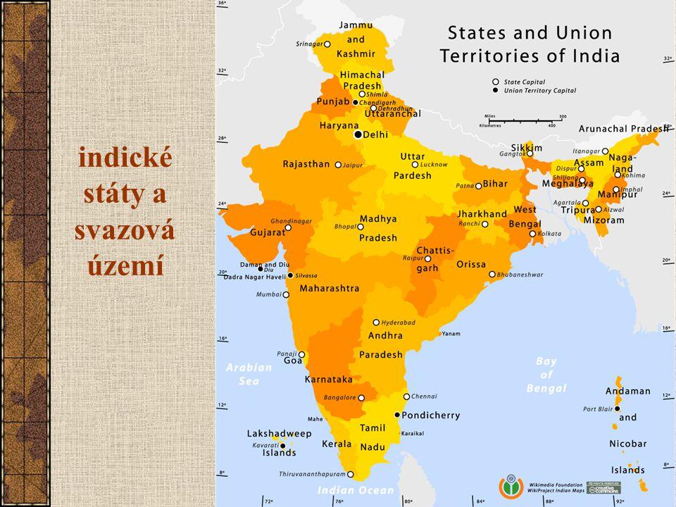 indické státy a svazová území