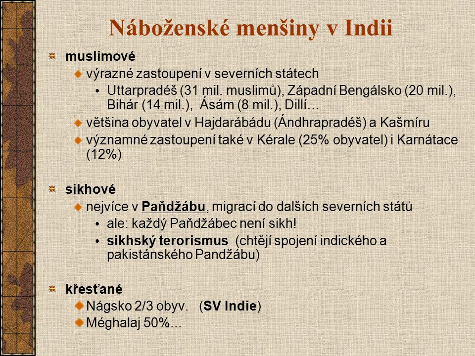 Náboženské menšiny v Indii